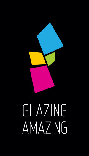 glazing amazing logotype color on black background